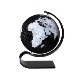 Black & White 8in. Diameter Sphere on Arc Base
