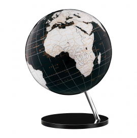Black & White 12in. Diameter Sphere on Circle Base