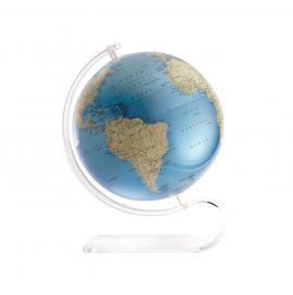 Blue & Ivory 8in. Diameter Sphere on Arc Base