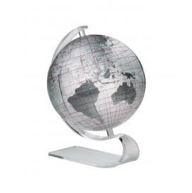 Clear & Silver 8in. Diameter Sphere on Arc Base