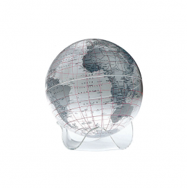 Clear & Silver 8in. Diameter Sphere on Triangle Base